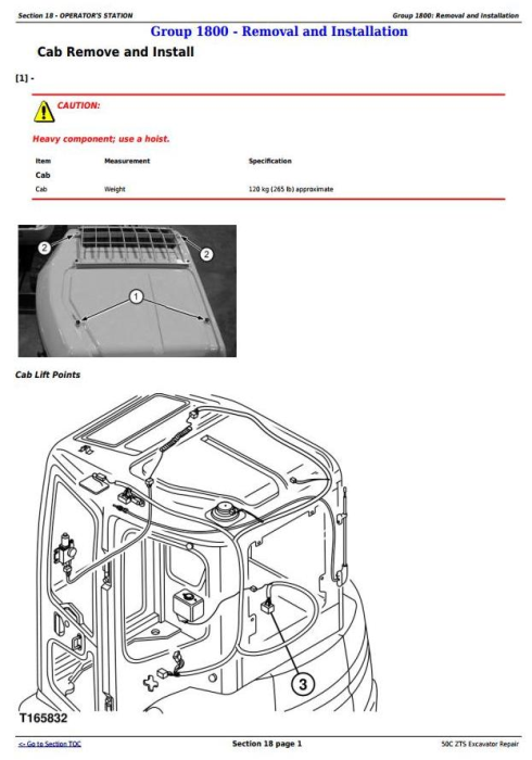 Third Additional product image for - John Deere 50Czts Compact Excavator Service Repair Technical Manual (TM2057)