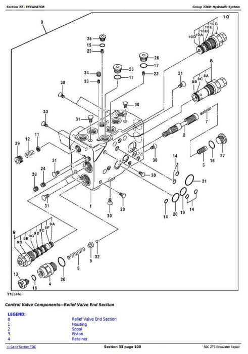 Fourth Additional product image for - John Deere 50Czts Compact Excavator Service Repair Technical Manual (TM2057)