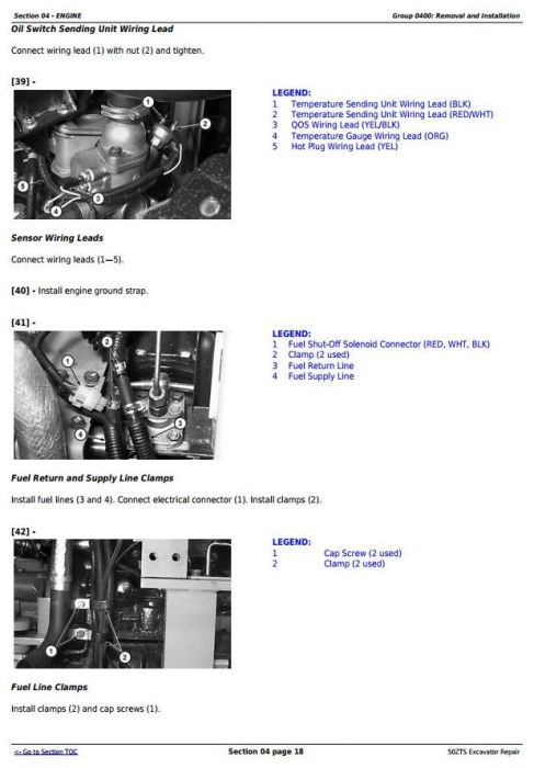 Second Additional product image for - John Deere 50ZTS Compact Excavator Service Repair Technical Manual (TM1818)