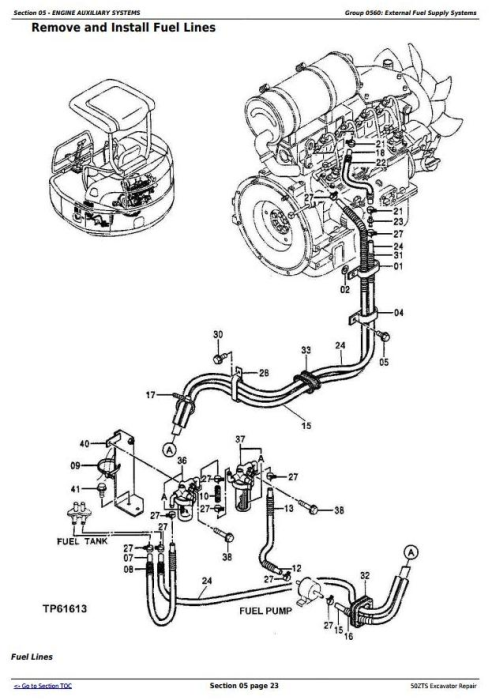 Third Additional product image for - John Deere 50ZTS Compact Excavator Service Repair Technical Manual (TM1818)