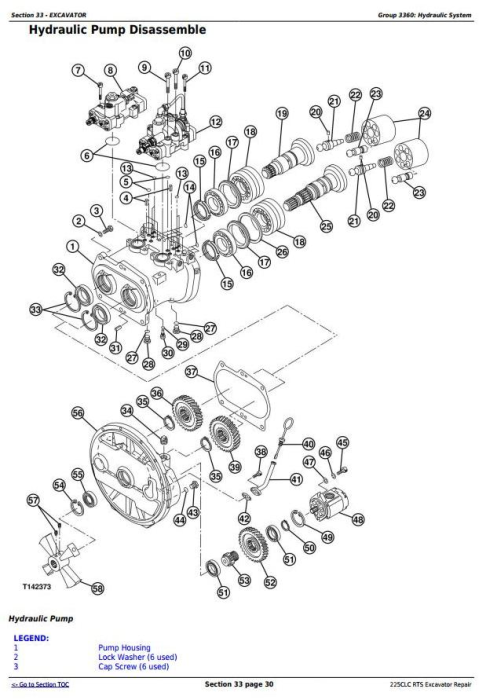 Third Additional product image for - John Deere 225CLC RTS RTS Excavator Service Repair Technical Manual (TM2096)