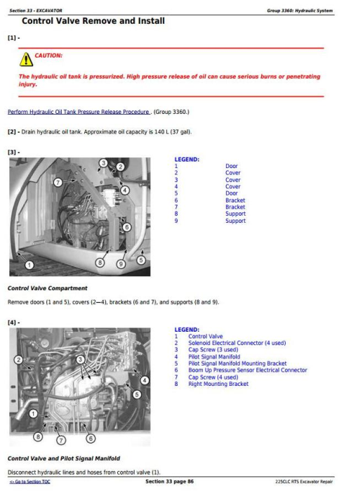 Fourth Additional product image for - John Deere 225CLC RTS RTS Excavator Service Repair Technical Manual (TM2096)