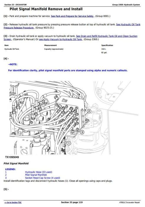 Third Additional product image for - John Deere 470GLC Excavator with 6UZ1XZSA-01 Engine Service Repair Technical Manual (TM12180)