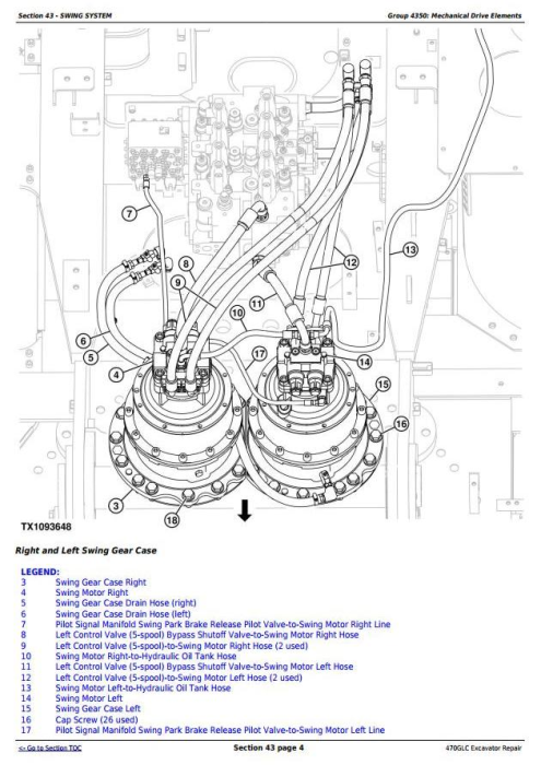 Fourth Additional product image for - John Deere 470GLC Excavator with 6UZ1XZSA-01 Engine Service Repair Technical Manual (TM12180)