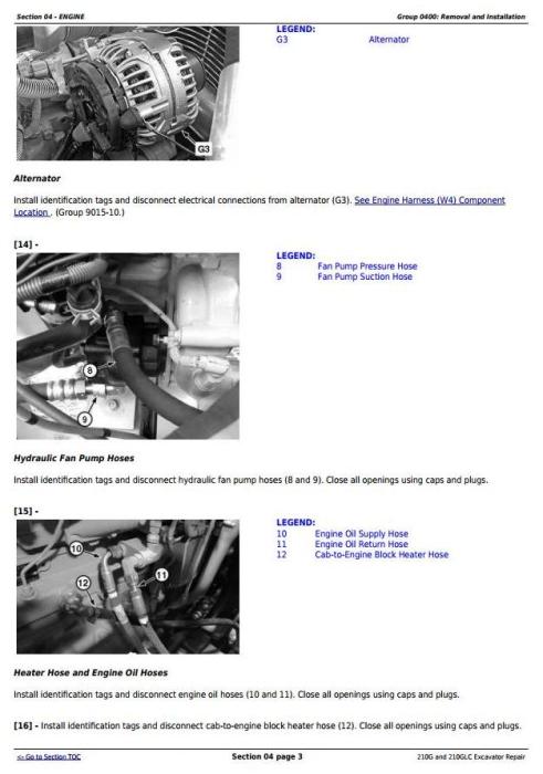 Second Additional product image for - John Deere 210G, 210GLC (PIN: 1FF210GX__E520001-) iT4/S3B Excavator Service Repair Manual (TM12333)