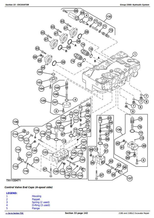 Fourth Additional product image for - John Deere 210G, 210GLC (PIN: 1FF210GX__E520001-) iT4/S3B Excavator Service Repair Manual (TM12333)