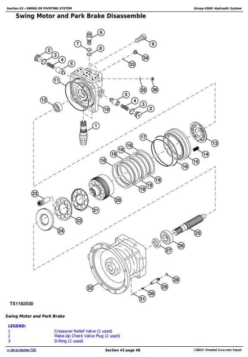 Fourth Additional product image for - John Deere 230GW Wheeled Excavator Service Repair Manual (TM13250X19)
