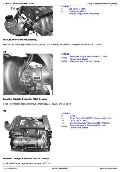 Second Additional product image for - John Deere 300GLC Excavator Service Repair Technical Manual (TM13264X19)