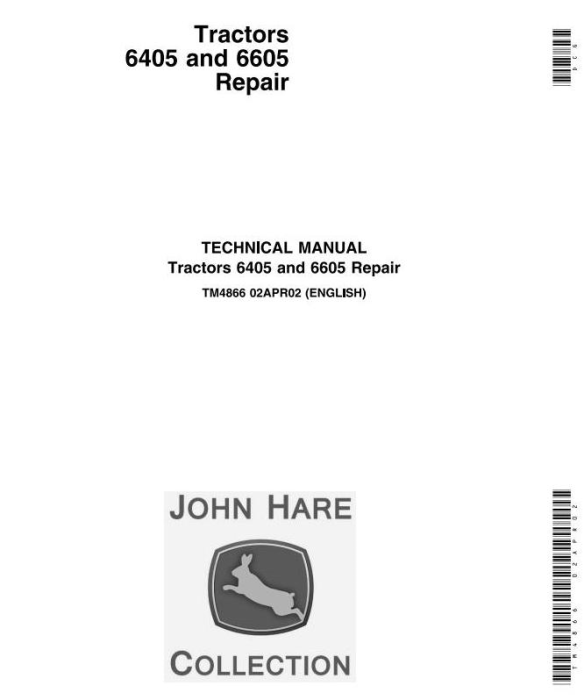First Additional product image for - John Deere 6405 and 6605 Tractors (Brasil) Technical Service Manual (TM4866)