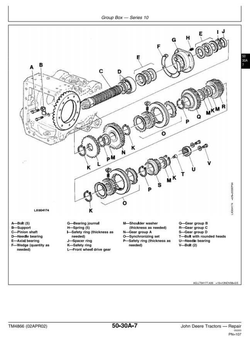 Third Additional product image for - John Deere 6405 and 6605 Tractors (Brasil) Technical Service Manual (TM4866)