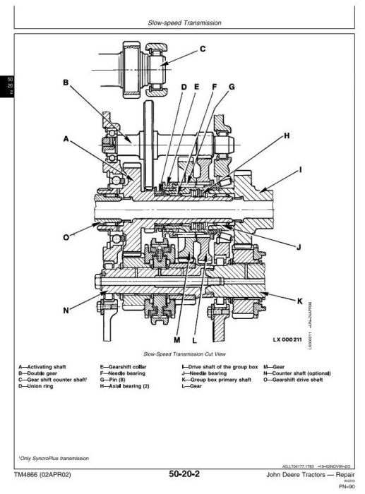 Fourth Additional product image for - John Deere 6405 and 6605 Tractors (Brasil) Technical Service Manual (TM4866)