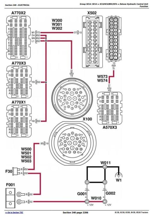 Third Additional product image for - John Deere 8130, 8230, 8330, 8430, 8530 Tractors Diagnosis and Tests Service Manual (TM2280)