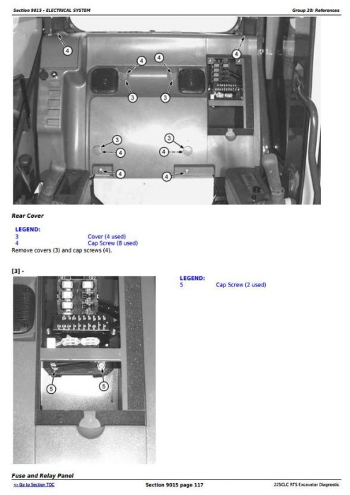 Second Additional product image for - John Deere 225CLC RTS Excavator Diagnostic, Operation and Test Manual (TM2095)