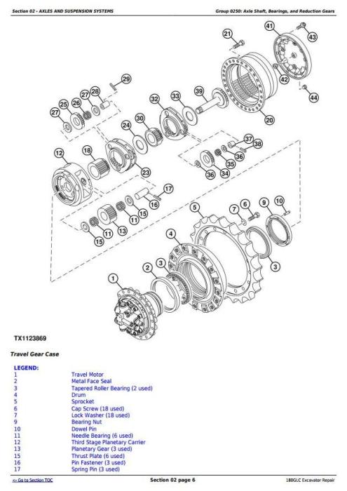 Second Additional product image for - John Deere 180GLC (PIN: 1FF180GX__F020331-) Excavator Service Repair Manual (TM13350X19)