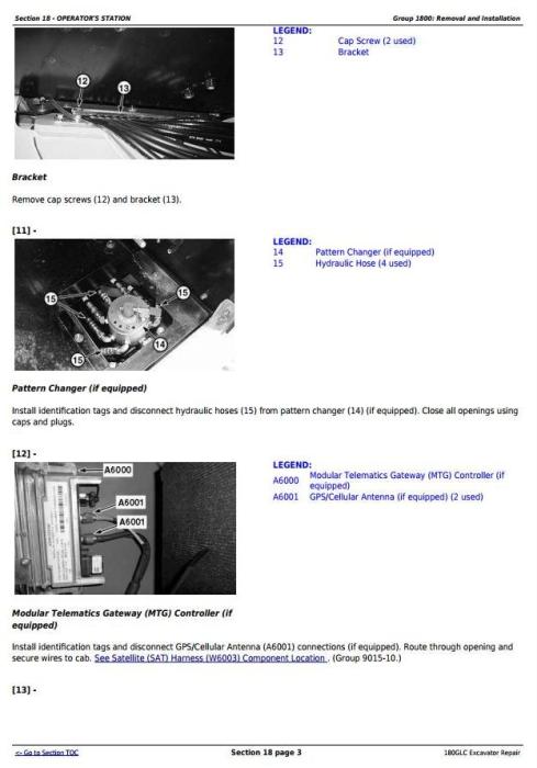 Third Additional product image for - John Deere 180GLC (PIN: 1FF180GX__F020331-) Excavator Service Repair Manual (TM13350X19)