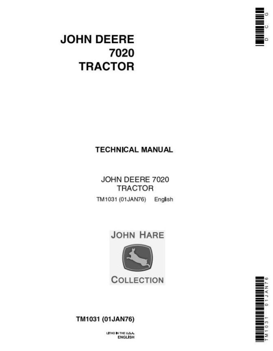First Additional product image for - John Deere 4WD Articulated Tractors Technical Service Manual (tm1031)