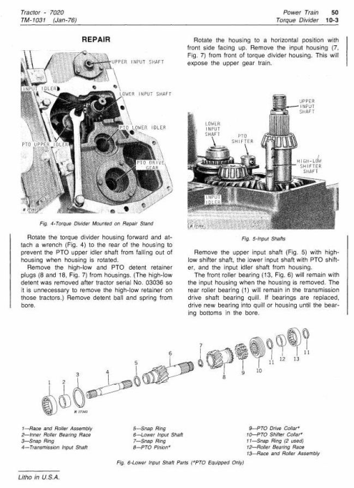 Second Additional product image for - John Deere 4WD Articulated Tractors Technical Service Manual (tm1031)