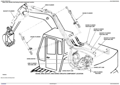 First Additional product image for - John Deere 290D Excavator Diagnostic, Operation and Test Manual (tm1442)