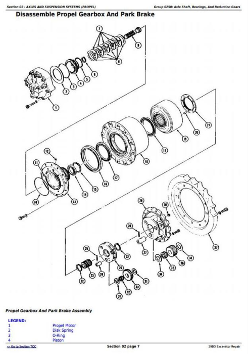Second Additional product image for - John Deere 290D Excavator Service Repair Technical Manual (tm1443)