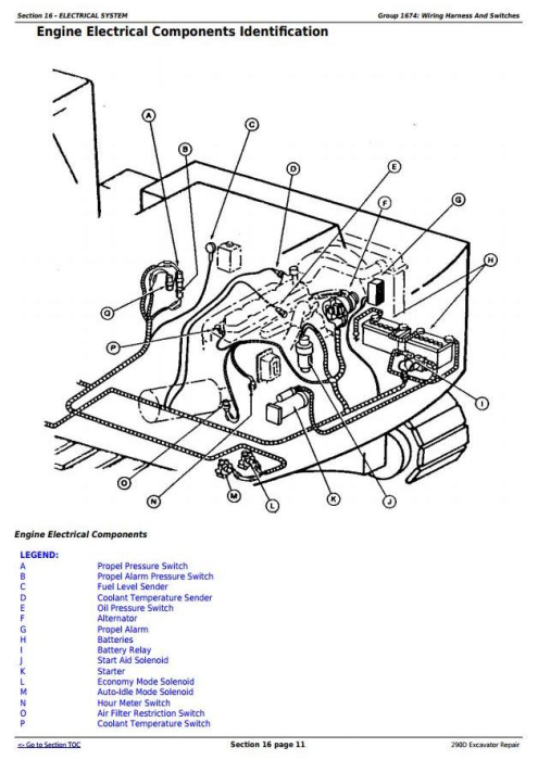 Third Additional product image for - John Deere 290D Excavator Service Repair Technical Manual (tm1443)