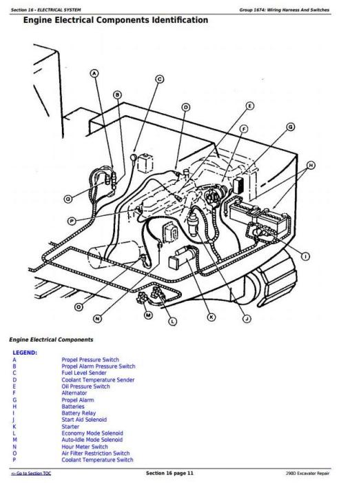 John Deere 290D Excavator Service Repair Technical Manual
