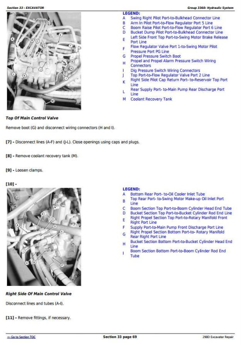 Fourth Additional product image for - John Deere 290D Excavator Service Repair Technical Manual (tm1443)