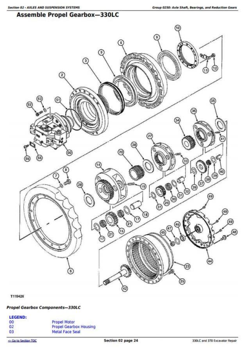 Second Additional product image for - John Deere 330LC and 370 Excavator Service Repair Technical Manual (tm1670)