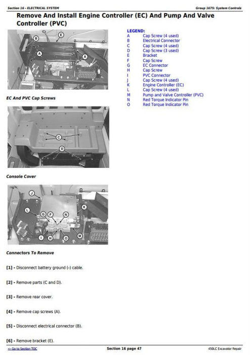 Second Additional product image for - John Deere 450LC Excavator Service Repair Technical Manual (tm1672)