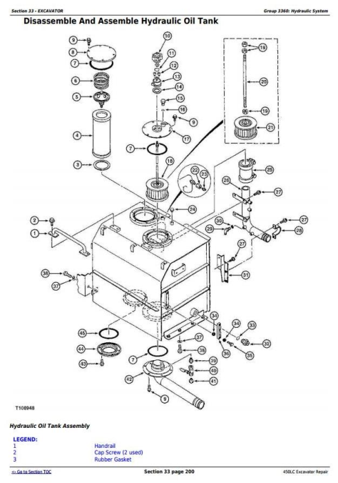 Fourth Additional product image for - John Deere 450LC Excavator Service Repair Technical Manual (tm1672)