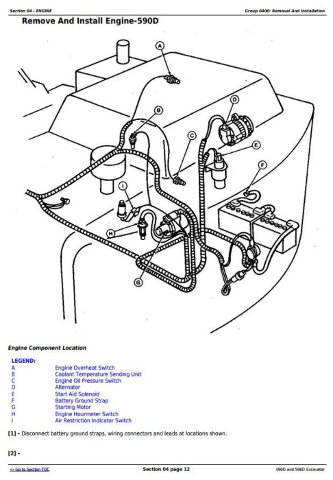 Second Additional product image for - John Deere 490D and 590D Excavator Service Repair Technical Manual (tm1390)