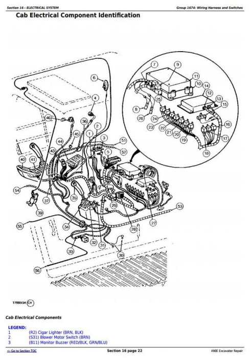 Second Additional product image for - John Deere 490E Excavator Service Repair Technical Manual (tm1505)