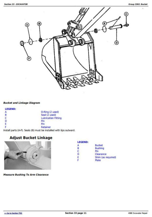 Third Additional product image for - John Deere 490E Excavator Service Repair Technical Manual (tm1505)