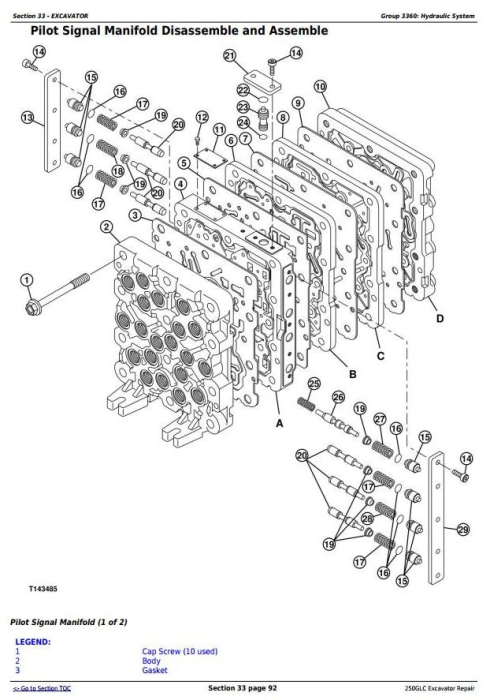 Fourth Additional product image for - John Deere 250GLC Excavator Service Repair Technical Manual (TM12177)