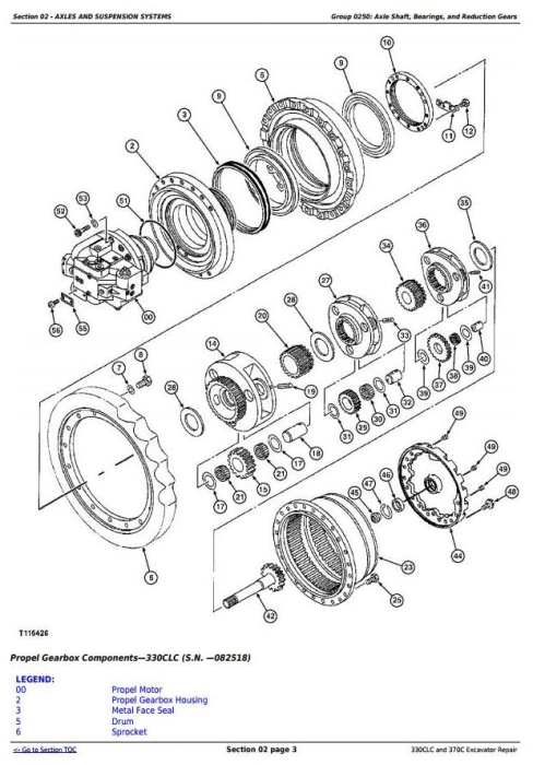 Second Additional product image for - John Deere 330CLC and 370C Excavator Service Repair Technical Manual (TM1927)