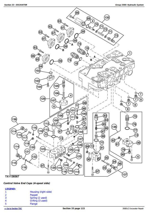Fourth Additional product image for - John Deere 350DLC Excavator Service Repair Technical Manual (TM2360)