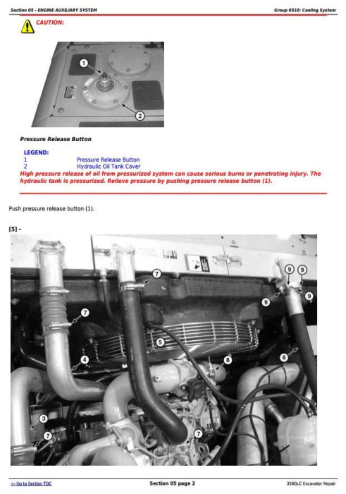 Third Additional product image for - John Deere 350GLC Excavator Service Repair Technical Manual (TM12179)
