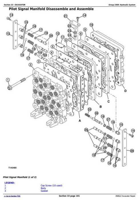 Fourth Additional product image for - John Deere 350GLC Excavator Service Repair Technical Manual (TM12179)