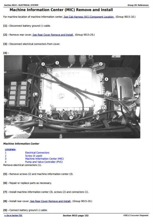 Second Additional product image for - John Deere 450CLC Excavator Diagnostic, Operation and Test Service Manual (TM1924)