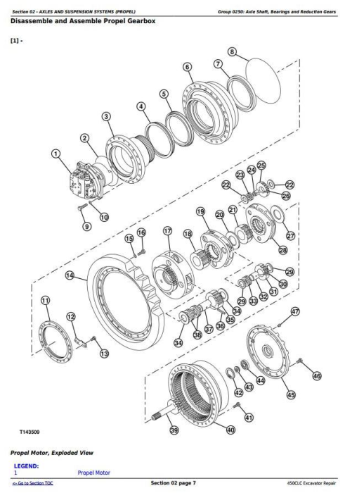 Second Additional product image for - John Deere 450CLC Excavator Service Repair Technical Manual (TM1925)