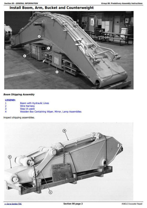 Fourth Additional product image for - John Deere 450CLC Excavator Service Repair Technical Manual (TM1925)