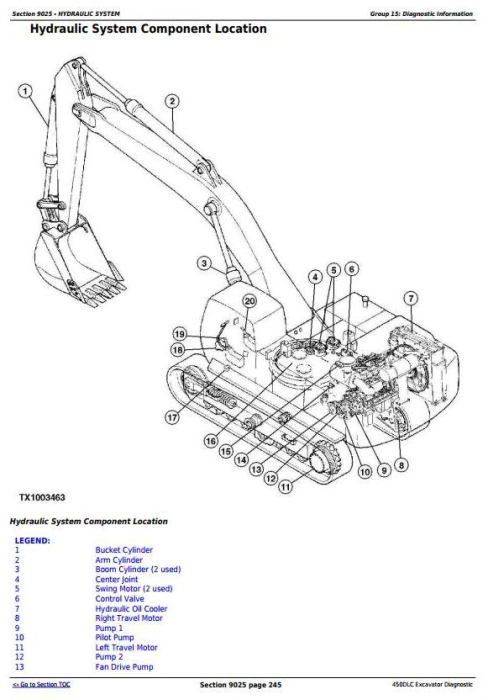 First Additional product image for - John Deere 450DLC Excavator Diagnostic, Operation and Test Service Manual (TM2361)
