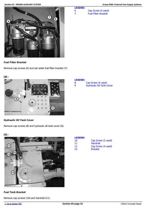 Second Additional product image for - John Deere 245GLC iT4 Excavator Service Repair Technical Manual (TM12663)