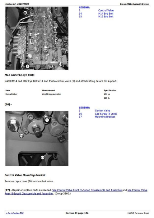 Fourth Additional product image for - John Deere 245GLC iT4 Excavator Service Repair Technical Manual (TM12663)