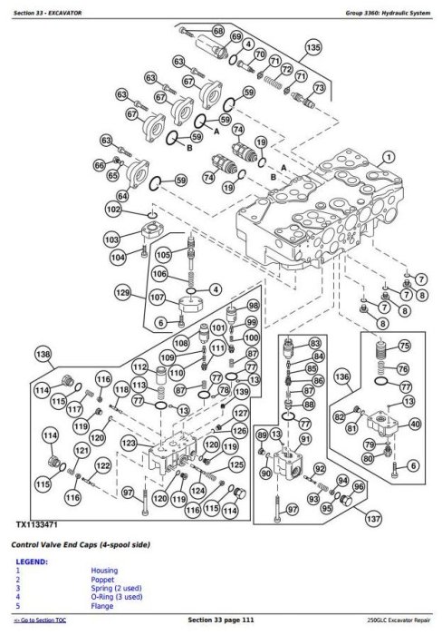 Fourth Additional product image for - John Deere 250GLC (T2/S2) Excavator Service Repair Technical Manual (TM13079X19)