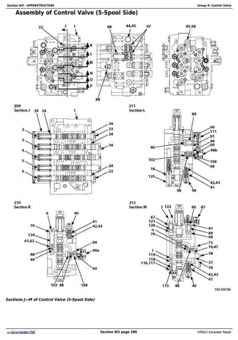 Second Additional product image for - John Deere 470GLC Excavator (PIN: 1FF470GX__C047001-) Service Repair Technical Manual (TM13174X19)
