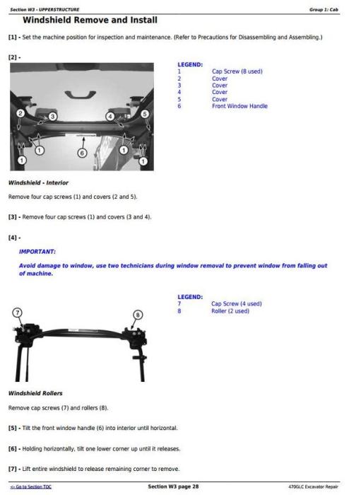 Third Additional product image for - John Deere 470GLC Excavator (PIN: 1FF470GX__C047001-) Service Repair Technical Manual (TM13174X19)