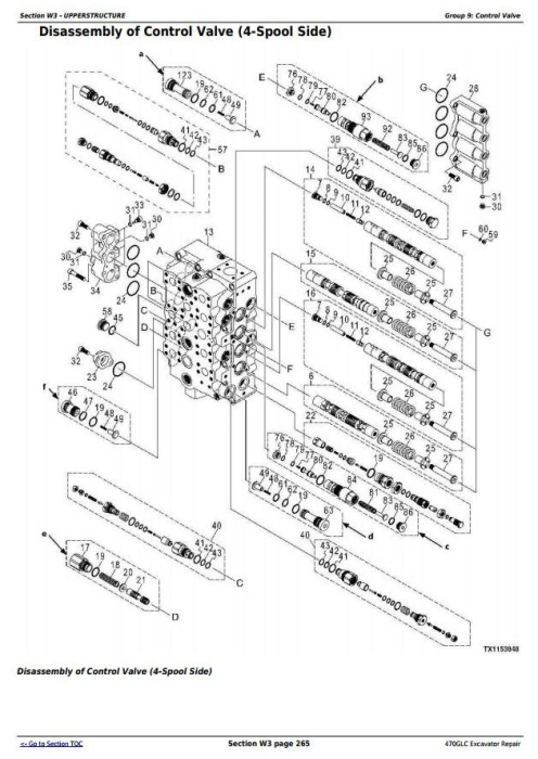 Fourth Additional product image for - John Deere 470GLC Excavator (PIN: 1FF470GX__C047001-) Service Repair Technical Manual (TM13174X19)
