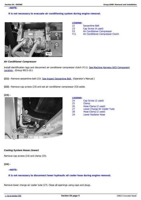 Second Additional product image for - John Deere 250GLC (PIN: 1FF250GX__F608713-) Excavator Service Repair Technical Manual (TM13209X19)