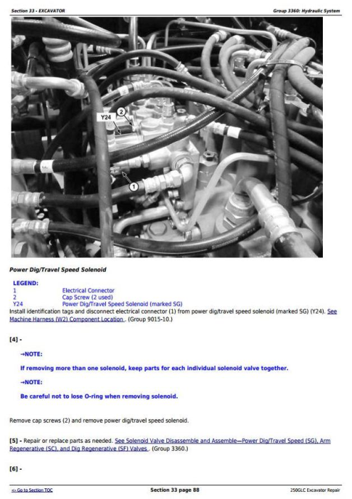 Fourth Additional product image for - John Deere 250GLC (PIN: 1FF250GX__F608713-) Excavator Service Repair Technical Manual (TM13209X19)