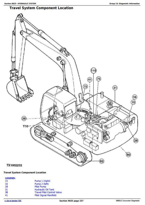 First Additional product image for - John Deere 380GLC Excavator (PIN: 1FF380GX__F900006-) Diagnostic, Operation and Test (TM13204X19)